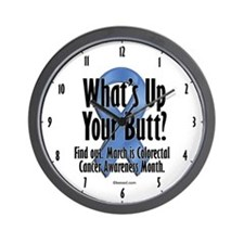 Colorectal Cancer Awareness Wall Clock