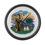 St Fran(f) - 2 Ragdolls Large Wall Clock