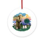 St Fran(f) - 2 Ragdolls Ornament (Round)