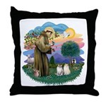 St Fran(f) - 2 Ragdolls Throw Pillow