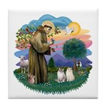 St Fran(f) - 2 Ragdolls Tile Coaster