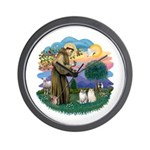 St Fran(f) - 2 Ragdolls Wall Clock