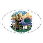 St Fran(f) - 2 Ragdolls Sticker (Oval 10 pk)