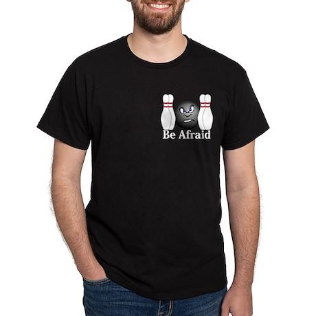 Be Afraid Logo 3 Dark T-Shirt Design Front Pocket