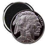 Silver Indian Head Magnet