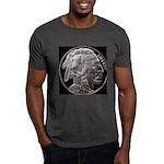 Silver Indian Head Black T-Shirt