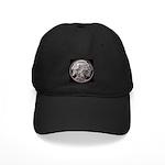 Silver Indian Head Black Cap