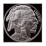Silver Indian Head Tile Coaster