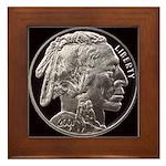 Silver Indian Head Framed Tile