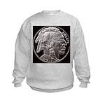 Silver Indian Head Kids Sweatshirt