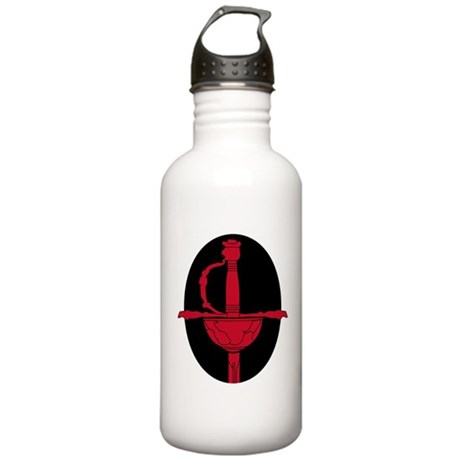 Red and Black Rapier Stainless Water Bottle 1.0L