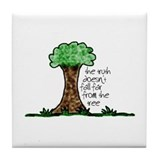 Truth Tree Tile Coaster