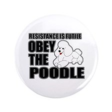 "Poodle 3.5"" Button (100 pack)"