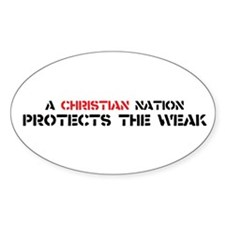 Christian Nation Protects Decal