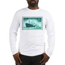 Merchant Marine Stamp Long Sleeve T-Shirt