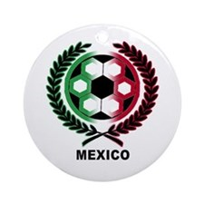Mexico World Cup Soccer Wreath Ornament (Round)