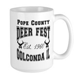 Varsity Deer Fest Lights Ceramic Mugs