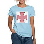 Pink Iron Cross Women's Pink T-Shirt
