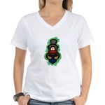 Christmas Caroler Women's V-Neck T-Shirt