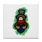 Christmas Caroler Tile Coaster