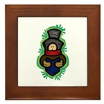 Christmas Caroler Framed Tile