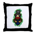 Christmas Caroler Throw Pillow