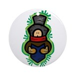 Christmas Caroler Round Ornament (Round)