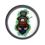 Christmas Caroler Wall Clock