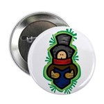 "Christmas Caroler 2.25"" Button"