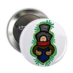 "Christmas Caroler 2.25"" Button (100 pack)"