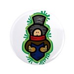 "Christmas Caroler 3.5"" Button"