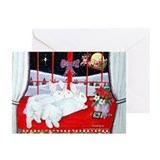 White Rabbits and Santa Christmas Cards (Pk of 20)