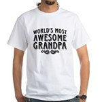 Awesome Grandpa White T-Shirt