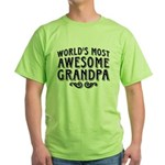Awesome Grandpa Green T-Shirt