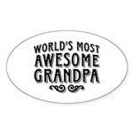 Awesome Grandpa Sticker (Oval)