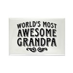 Awesome Grandpa Rectangle Magnet