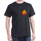 USMC Sergeant&lt;BR&gt; Black T-Shirt