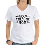 Awesome Mom Women's V-Neck T-Shirt