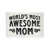 Awesome Mom Rectangle Magnet