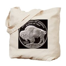 Silver Buffalo Tote Bag