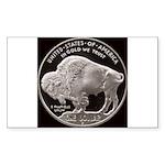Silver Buffalo Rectangle Sticker