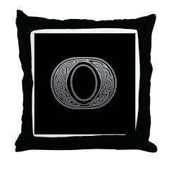 K Monogram Celtic Silver Throw Pillow