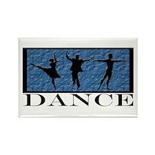 Dance Styles Trio Rectangle Magnet