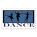 Dance Styles Trio Rectangle Decal