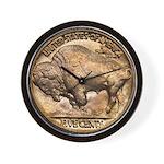 Nickel Buffalo Wall Clock