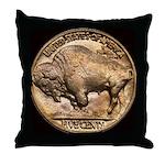 Nickel Buffalo Throw Pillow