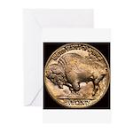 Nickel Buffalo Greeting Cards (Pk of 10)