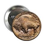 Nickel Buffalo Button