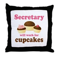 Funny Secretary Throw Pillow