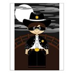 Cute Masked Cowboy Poster (Small)